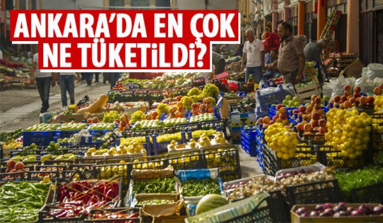 Başkent'te en çok tercih edilen sebze ve meyveler