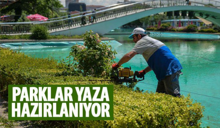 Başkent'te parklar yaza hazırlanıyor