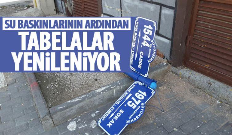 Başkent'te tabelalar yenileniyor