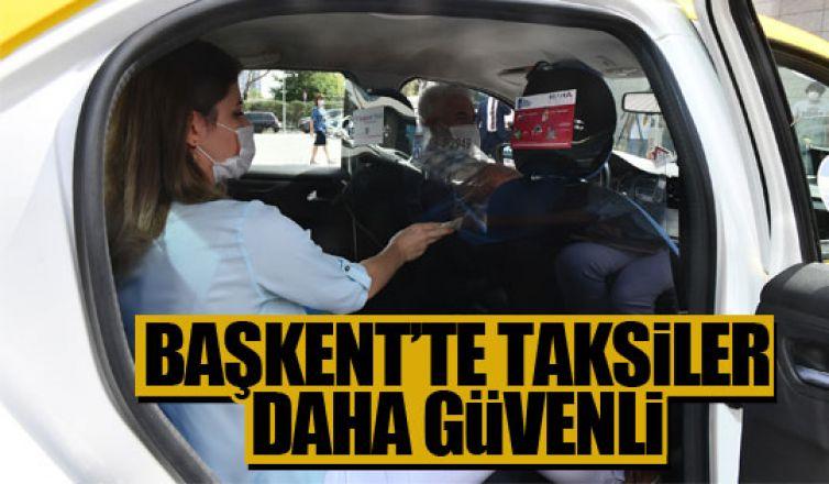 Başkent'te taksiler artık daha güvenli