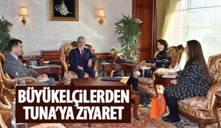 Büyükelçilerden Tuna'ya ziyaret