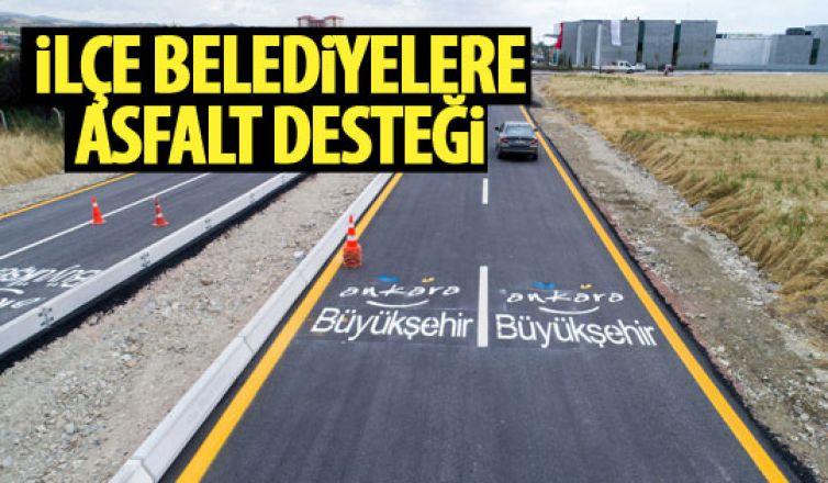 Büyükşehirden ilçe belediyelere asfalt desteği