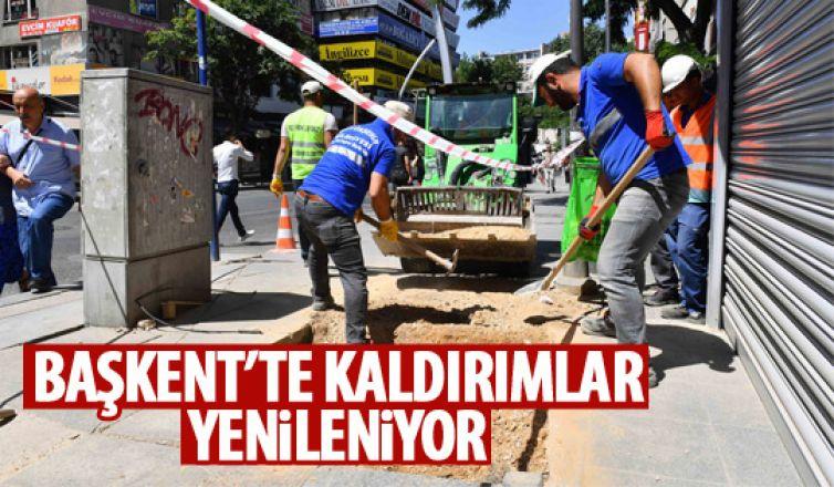 Büyükşehir'den kaldırımlara bakım onarım!