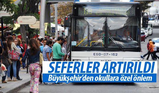 Büyükşehir'den okulların açılmasıyla önlem