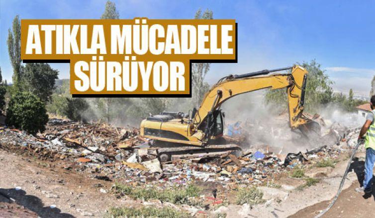 Büyükşehir'in atıkla mücadelesi sürüyor