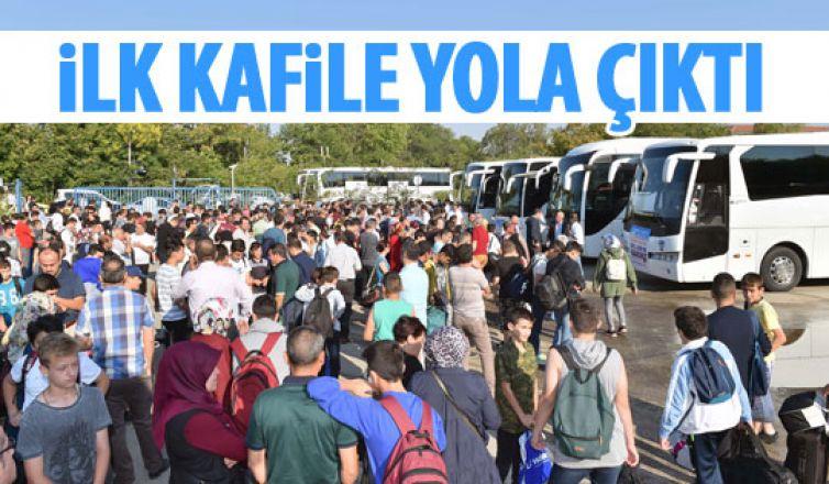 Büyükşehir'in tatil kamplarına yolculuk başladı