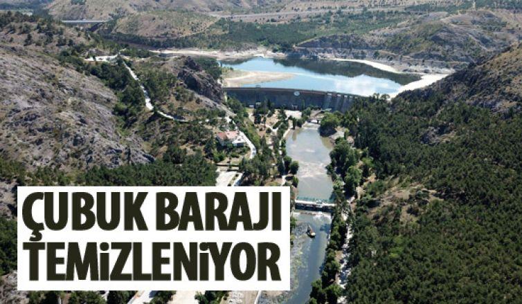 Çubuk 1 Barajı temizleniyor