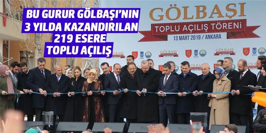 Cumhurbaşkanı Erdoğan 219 eserin açılışını yaptı