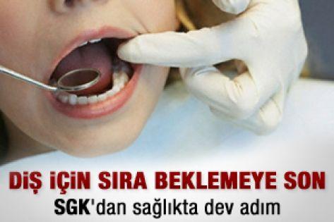 Diş için sıra bekleme dönemine son
