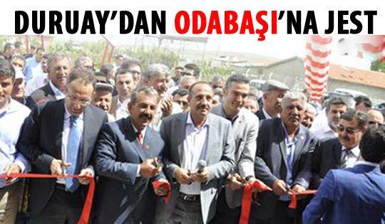 Duruay'dan Odabaşı'na jest