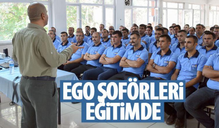 EGO şoförlerine tam donanımlı eğitim