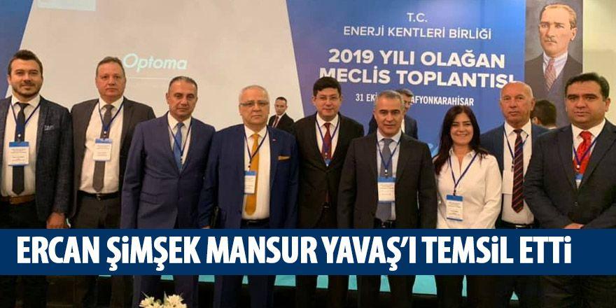 Ercan Şimşek Afyon'da Mansur Yavaş'ı temsil etti