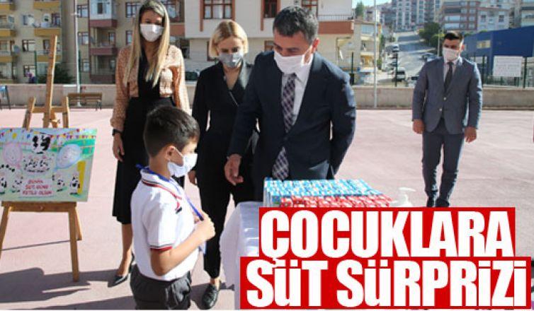Gölbaşı Belediye Başkanı Şimşek'ten süt sürprizi…
