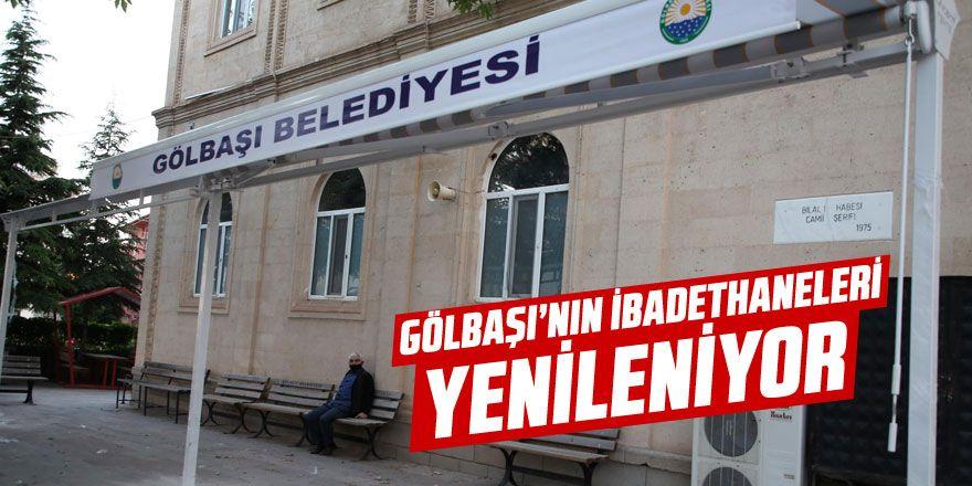 Gölbaşı Belediyesi camileri onarıyor…