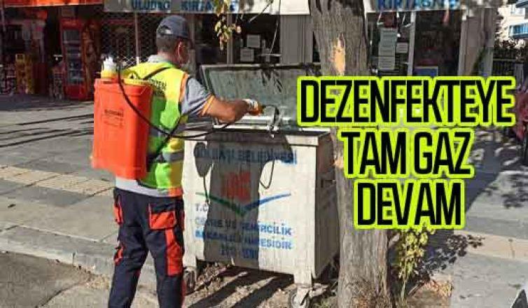 Gölbaşı Belediyesi temizlik ve dezenfekte çalışmalarına devam ediyor…