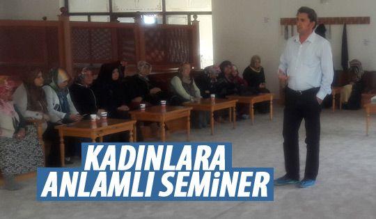 Gölbaşı Belediyesi'nden kadınlara seminer