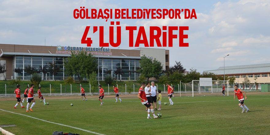 GÖLBAŞI BELEDİYESPOR'DAN 4'LÜ TARİFE