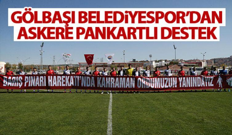 Gölbaşı Belediyespor'dan pankartlı destek