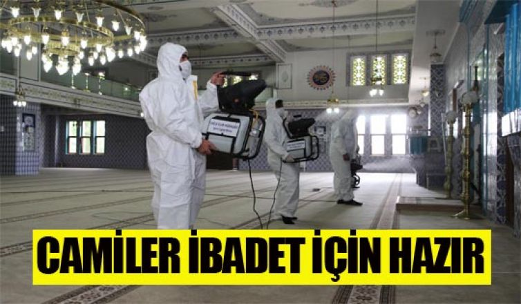 Gölbaşı camileri dezenfekte edildi…