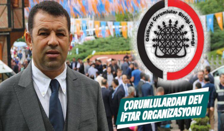 Gölbaşı Çorumlular Birliği'nden Dev İftar Organizasyonu