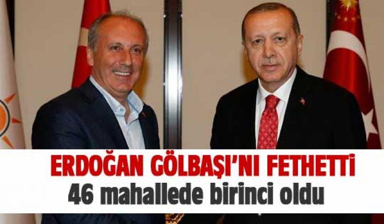 Gölbaşı'nda Erdoğan farkı