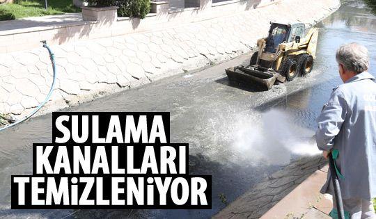 Gölbaşı'nda sulama kanalları temizleniyor