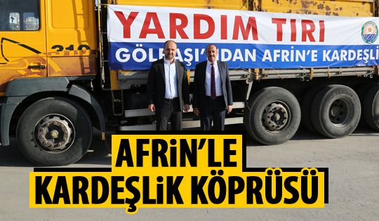 Gölbaşı'ndan Afrin'e destek