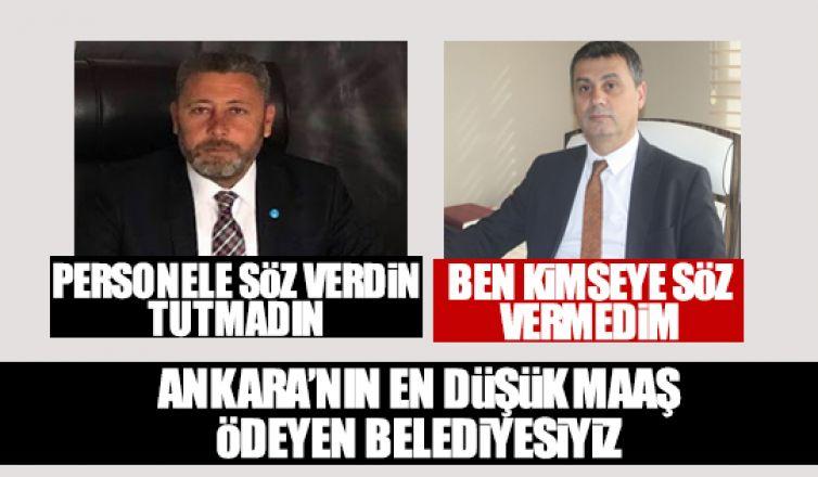 Hacı Karagöz: En az maaş ödeyen belediye bizim
