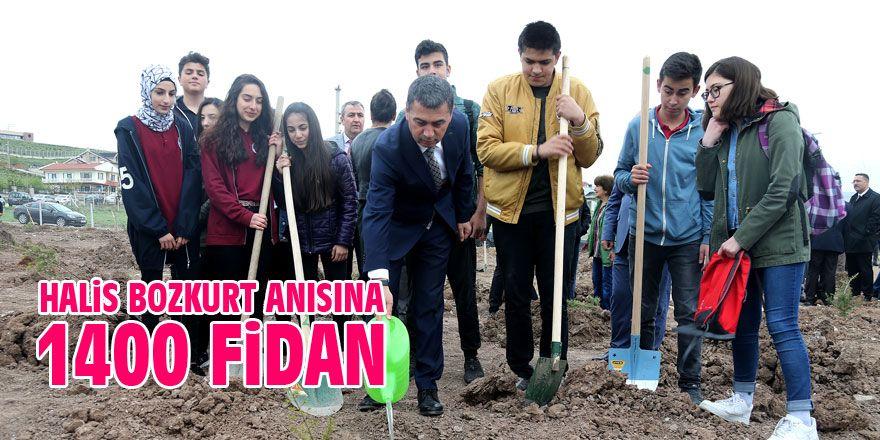 Halis Bozkurt anısına ağaçlandırma alanı