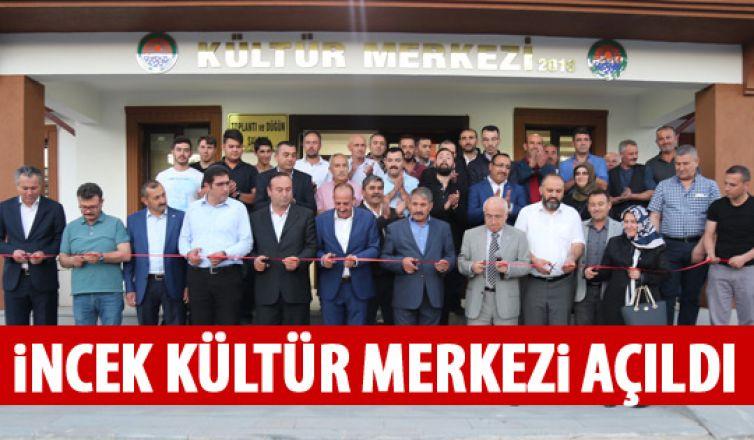 İncek Kültür Merkezi açıldı