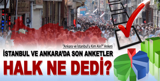 İstanbul ve Ankara'da son seçim anket sonuçları