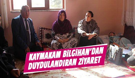 Kaymakam Bilgihan yabancı uyruklu aileleri ziyaret etti