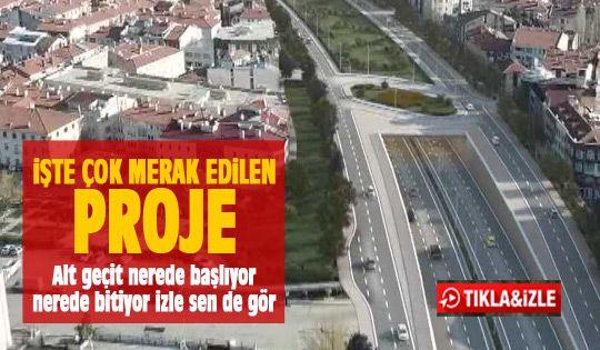 Konya yolu alta alınıyor (video)