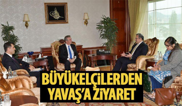 Mansur Yavaş'a büyükelçilerden ziyaret