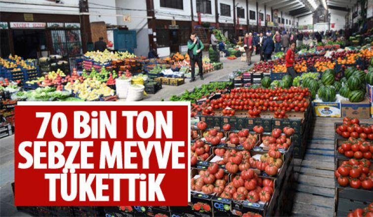 Mart ayında 70 bin ton sebze ve meyve tüketildi