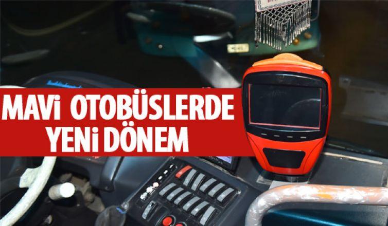Mavi otobüslerde Ankarakart dönemi