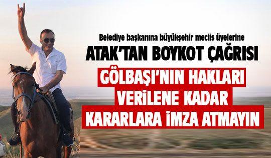 Mehmet Atak'tan boykot çağrısı