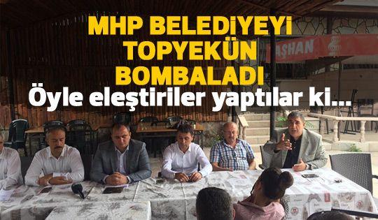 MHP'den belediye yönetine sert eleştiriler