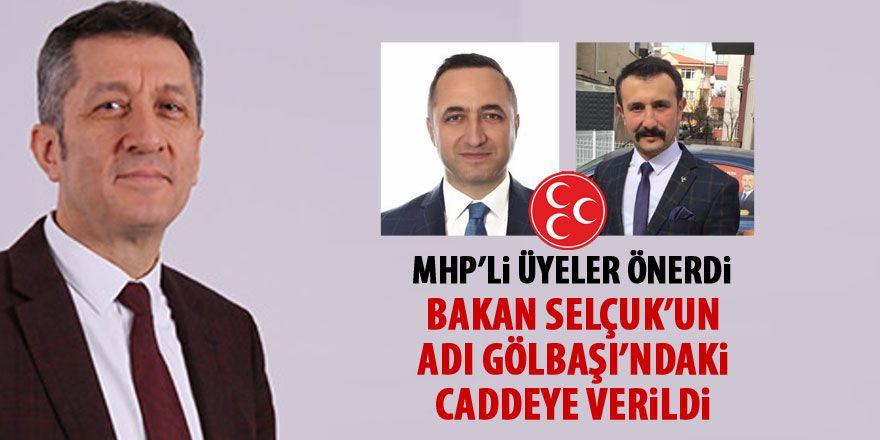 MHP'li üyeler önerdi... Bakan Selçuk'un adı Gölbaşı'na verildi