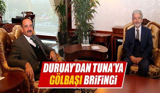 Mustafa Tuna Başkan Duruay'ı kabul etti
