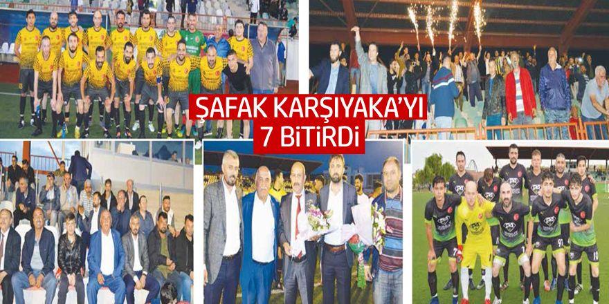 Şafakspor Karşıyaka'yı yedi bitirdi