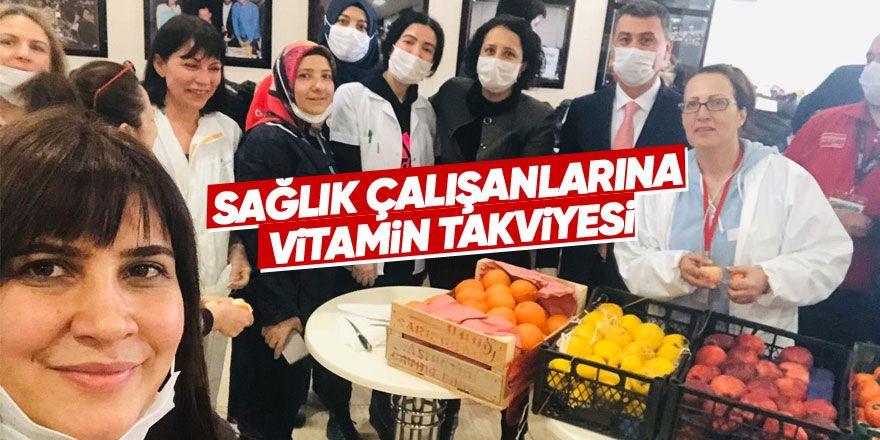 Sağlık çalışanlarına vitamin takviyesi