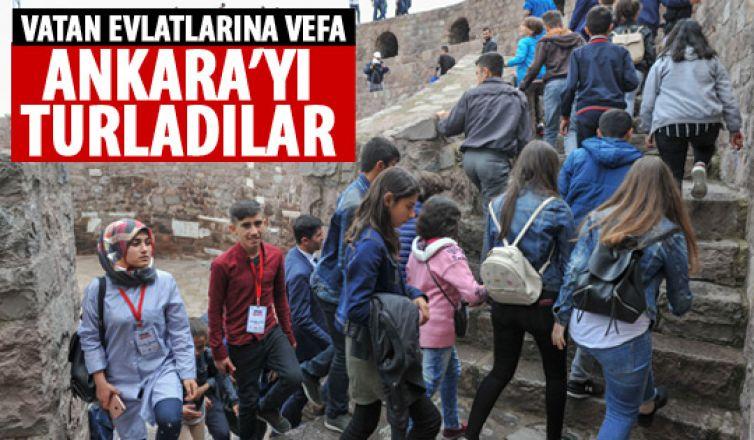Şehit ve gazi çocuklarına Ankara turu