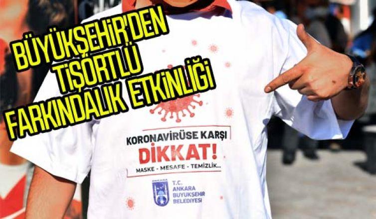 Sokaklar renklendi: büyükşehir'den tişörtlü