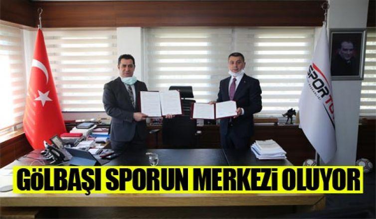 Spor Toto ile Gölbaşı Belediyesi yeni yatırımlar için protokol imzaladı