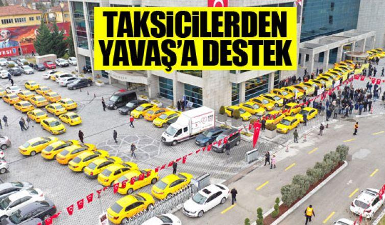 Taksicilerden Mansur Yavaş'a destek!