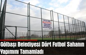 Gölbaşı Belediyesi Dört Futbol Sahanın Yapımını Tamamladı