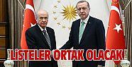 Ak Parti ve MHP'de ortak liste arayışı
