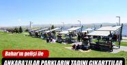Bahar'ın Gelişi İle Ankara'lılar Parkların Tadını Çıkarttı.