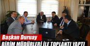 Başkan Duruay Birim Müdürleri İle Toplantı...
